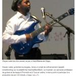 Article de presse guitariste